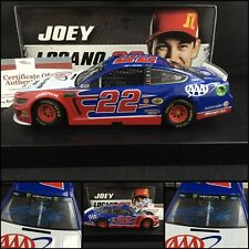 2019 JOEY LOGANO Autographed / Signed #22 AAA INSURANCE FORD MUSTANG 1/24 W/COA