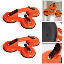 2 x Suction Cup TRIPLE Pad Lifter 100kg Sucker Plate Glass tile Mirror Lifter