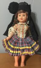 "Doll in Ethnic Costume 16"" Plastic"
