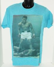 MUHAMMAD ALI KNOCKOUT TAUNT - MENS SMALL OR CAN FITS WOMEN BLUE SHIRT NEW