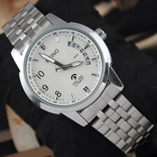 Fashion Men's Stainless Steel Date Self Wind Automatic Mechanical Wrist Watch