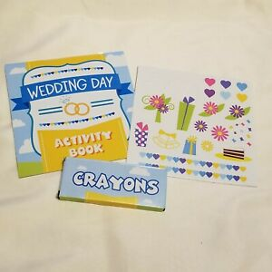 NEW Child Wedding Activity Sets Crayon Stickers Party Favors Lot of 10