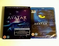 AVATAR 3-Disc 2D UK Collectors Extended Blu Ray Slipcase + 3D Theatrical Edition