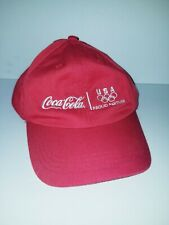 London Coca Cola 2012 Olympics Red Baseball Dad Cap Hat Adjustable