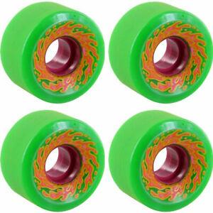 Santa Cruz Slime Balls OG Green 54.5mm 78a Skateboard Wheels + ABEC 11's