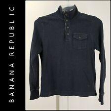 Banana Republic Mens Knit Pull Over Cotton Sweater Size Medium Black
