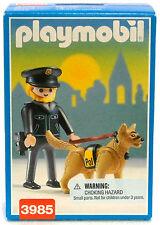 HUNDEFÜHRER POLIZIST USA EDITION Playmobil 3985 v.`97 zu Cop Polizei OVP NEU RAR