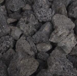 "10 lbs. Large BLACK Volcanic Lava Rocks 3 - 5"" Fish Tank Aquarium Fire Pit - R&D"
