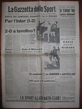 LA GAZZETTA DELLO SPORT 2/12/1965   Dinamo 2  Inter 1  Coppa dei campioni