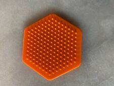 Hamma Beads Small Orange Hexagonal Board.