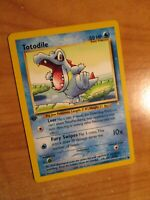 PL (1st edition) Pokemon TOTODILE Card NEO GENESIS Set 81/111 First Ed PLAYED
