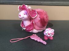 Vintage Tonka Keypers Fancy Pearl Pink Snail Set 1986 With Hat, Collar