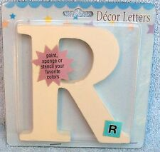 Baby Boom White Décor Wood Letter R for Crafts NEW Nursery Bedroom