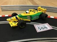 Scalextric Car Benetton Ford F1 No5 Yellow / Green Slot Car 1:32 Lot 588