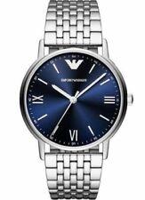 Original Emporio Armani Herren Uhr Armbanduhr Silberfarben AR80010 Neu & Ovp