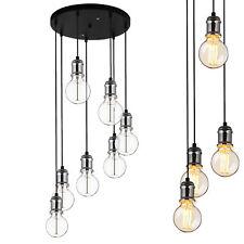 [lux.pro] Suspensions 7-flam. Plafonnier Lampe suspendue rétro Luminaire verre