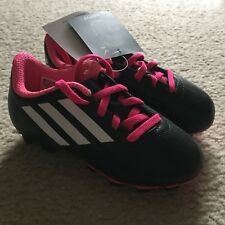 Nwt Adidas Girls Black Pink Soccer Cleats Size 11K