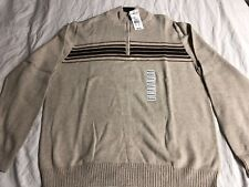 SunRiver 1/4 Zip Sweater Mens Medium Tan Brown Brand New with Tags $