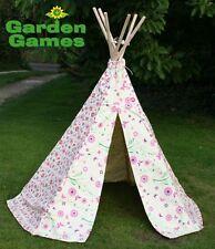 Neuf enfants fleur papillon tipi, wigwam tente, enfants jouent tente enfant jardin
