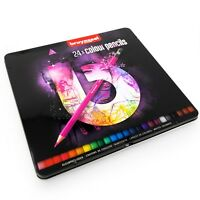 Bruynzeel Colouring Pencils - 24 Assorted Colours in Metal Gift Tin - Pink Set