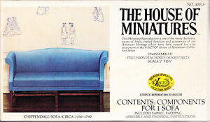 The House of Miniatures Chippendale Sofa Circa 1750-1790 Unassembled Unused