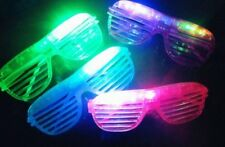 12 pcs Shutter Eyeglasses with Blinking Led Light Up Flashing Party Novelty NEW