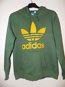 Mens Boys Adidas Green Overhead Hoody, Small Mark Please see Pic Size XS
