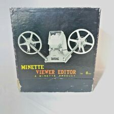 Vintage Minette Super Viewer 8mm film viewer editor EUC with Original Box