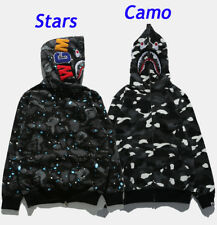 e0a36475 BAPE MEN'S A BATHING APE SPACE CAMO SHARK HOODIE FULL ZIP Sweater COAT  JACKET N