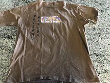 Vtg 1980's Culture Wear Mens Brown T Shirt Chicano Nation Mayan Calendar XL
