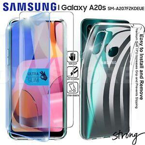 CUSTODIA per SAMSUNG Galaxy A20s Cover TPU Pellicola VETRO Temperato