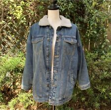 Wonderful Jeans Women's Size Medium Sherpa Lined Insulated Denim Collared Jacket