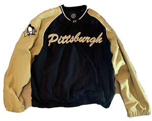 Pittsburgh Penguins Pullover Jacket Windbreaker Size Large by G-III Apparel NHL