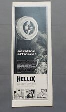 PUB PUBLICITE ANCIENNE ADVERT CLIPPING 230517 AERATEURS HELLIX AERATION EFFICACE