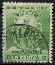 Peru 1896-1900 SG#336, 1c Green, Atahualpa Used #E1252
