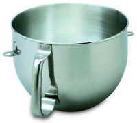 New KitchenAid Bowl for Stand Mixer 6-QT Stainless Steel KN2B6PEH W10111702