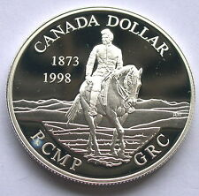 Canada 1998 Mounted Police Dollar Silver Coin,Proof