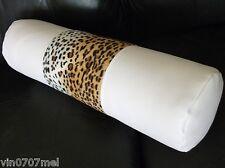 White in Ecopelle & VELBOA Pelliccia Snow Leopard poggiate Cuscino & Filler