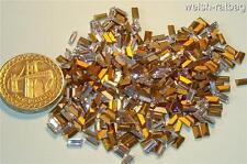 24 x Swarovski 5.0mm x 2.5mm Crystal gold-foiled #4500 baguettes