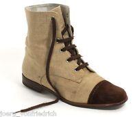 Bottines à Lacet Tresse Blog Chaussures en Cuir à Lacets Fiordiluna Vintage 37