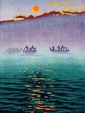 CULTURAL LANDSCAPE JAPAN SEA Kawase Hasui BOAT FISH POSTER ART PRINT BB792B