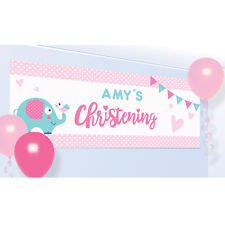 PINK/GIRL CHRISTENING Party Banners, Balloons Baby Partyware Decorations Candles