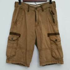 Paper Denim Cloth Mens Cargo Shorts 30 Brown 100% Cotton Flat Front Casual