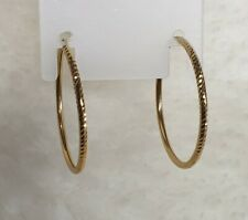 Genuine 18k Solid Gold Round Hoop Sleepers Earrings