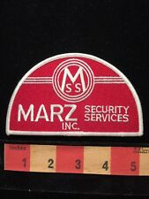 MSS MARZ INC. Security Services Guard Officer Patch 64Z8