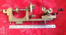Rare Watchmakers Brass Lathe With Compound Slide And Face Plate
