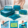 7PCS Travel Packing Cubes Storage Bag Clothes Luggage Organizer Packing Bags !