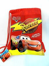 Red Disney Pixar Cars Drawstring Backpack Sling Tote Child School Gym Bag