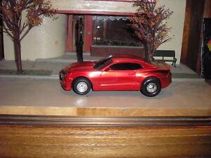 RARE CUSTOM Chevy COPO Camaro Drag Car 1:24 RED w/ chrome Drag wheels FREE SHIP