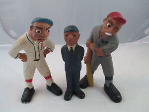Vintage 1941 Suttle & Rittgers Inc Chicago chalkware 2 baseball players & umpire